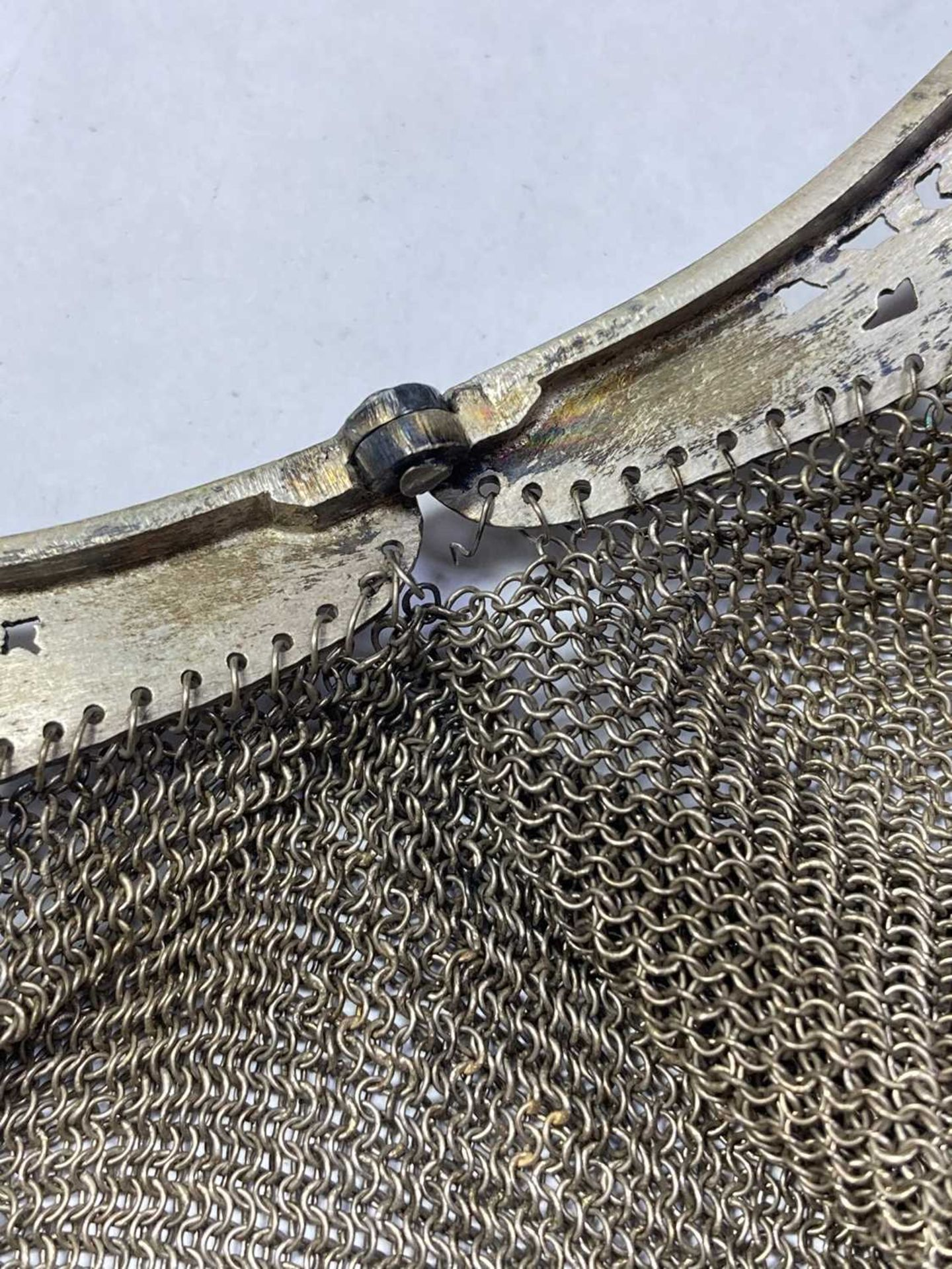 A silver mesh purse, - Image 2 of 6
