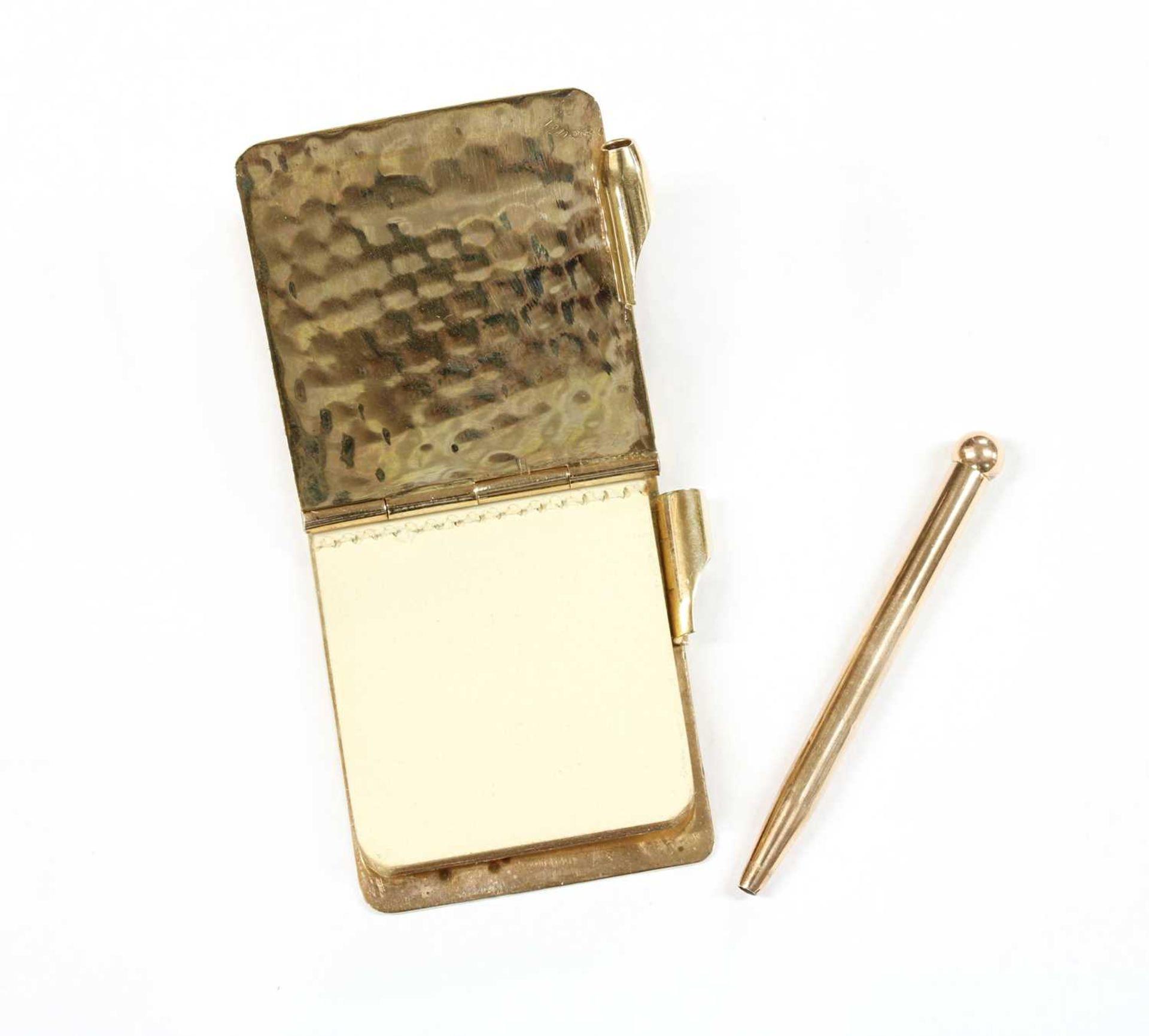 A 9ct gold aide-mémoire, - Image 3 of 3