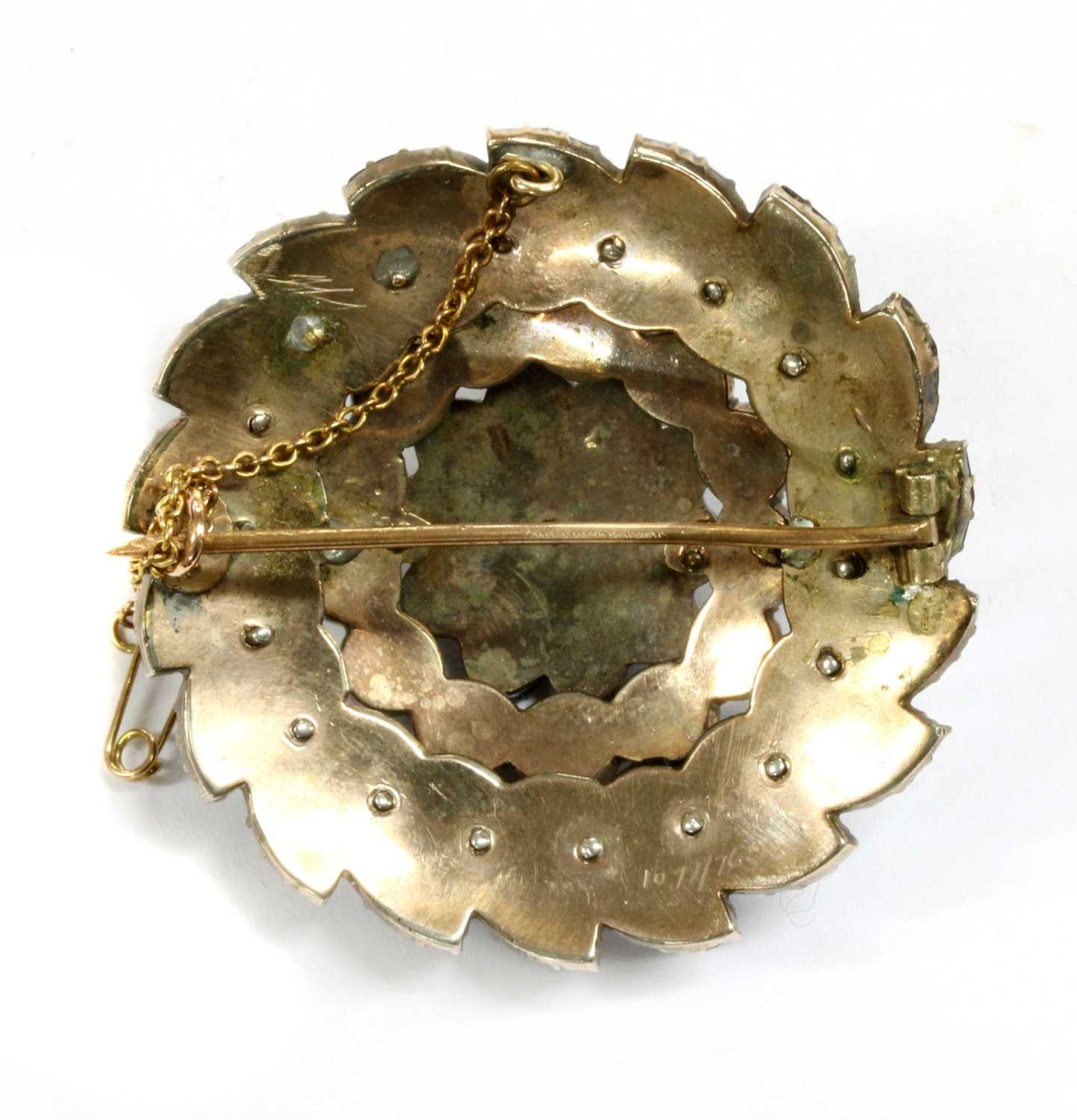 A Victorian circular Bohemian garnet brooch, - Image 2 of 2