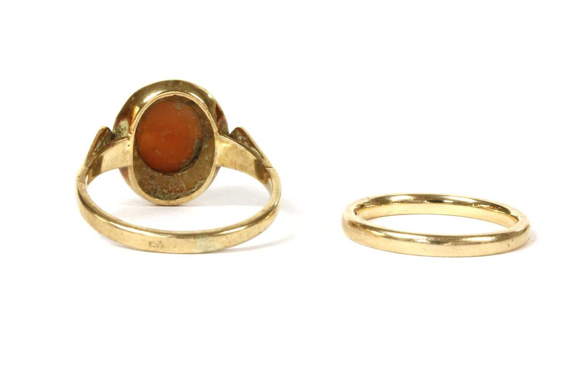 A 9ct gold court section wedding ring, - Image 2 of 2