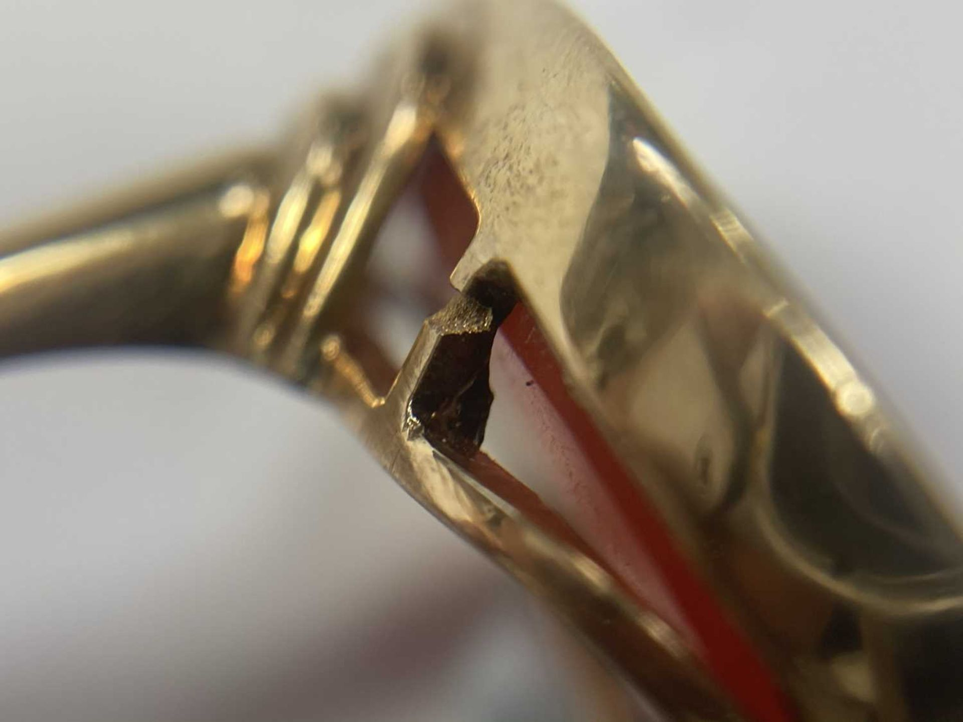 A gold intaglio hardstone signet ring, - Image 9 of 9