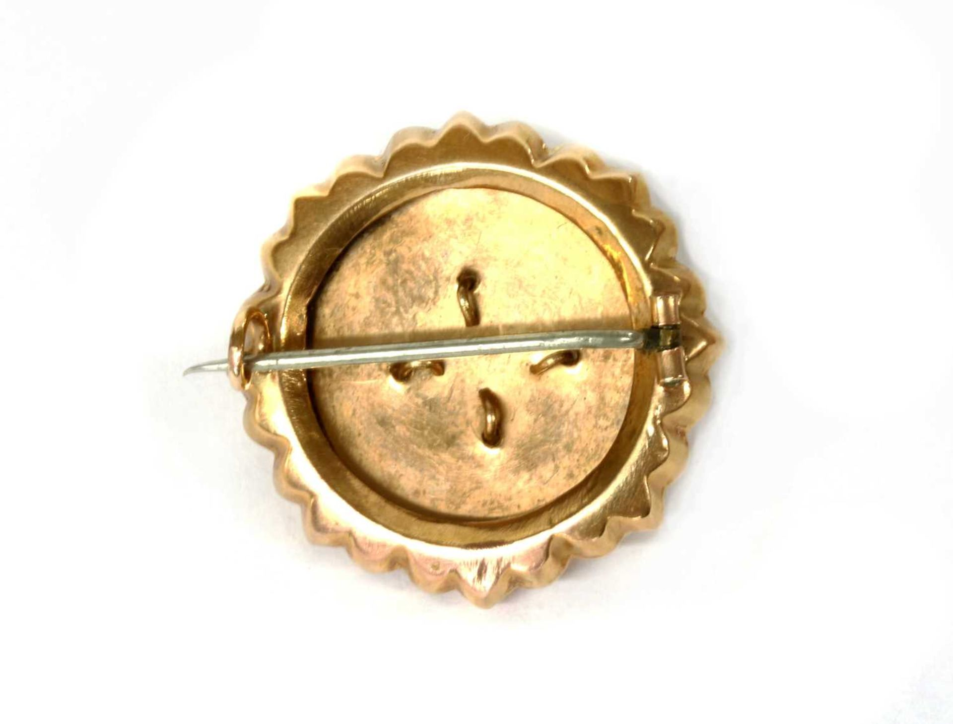 A late Victorian gold brooch, - Image 2 of 2