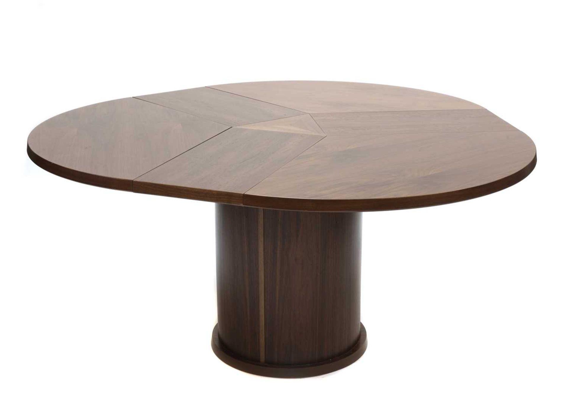 A Skovby 'Confide' walnut veneered extending circular dining table - Image 3 of 7