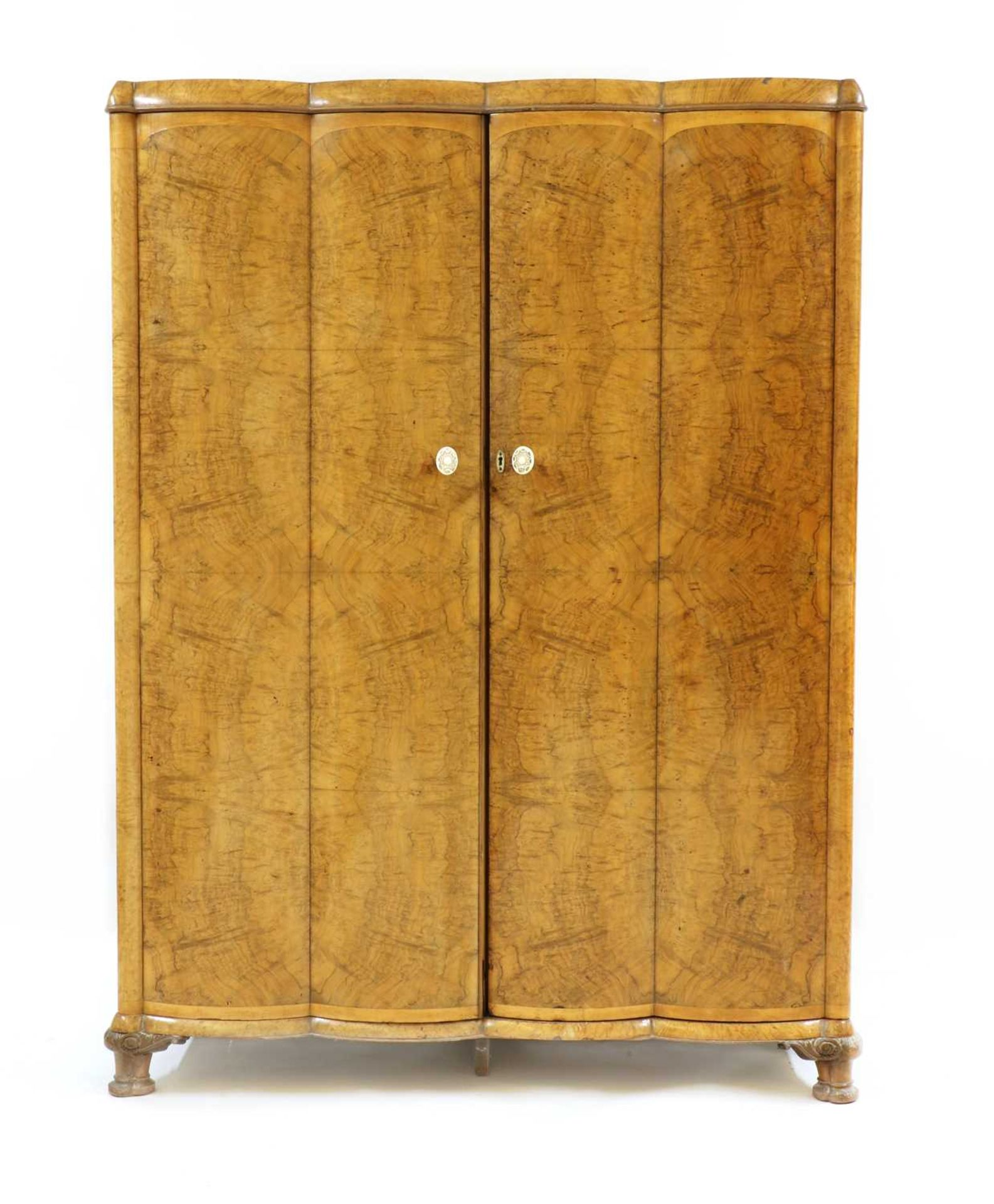 An Art Deco burr walnut and maple bedroom suite, - Image 3 of 45