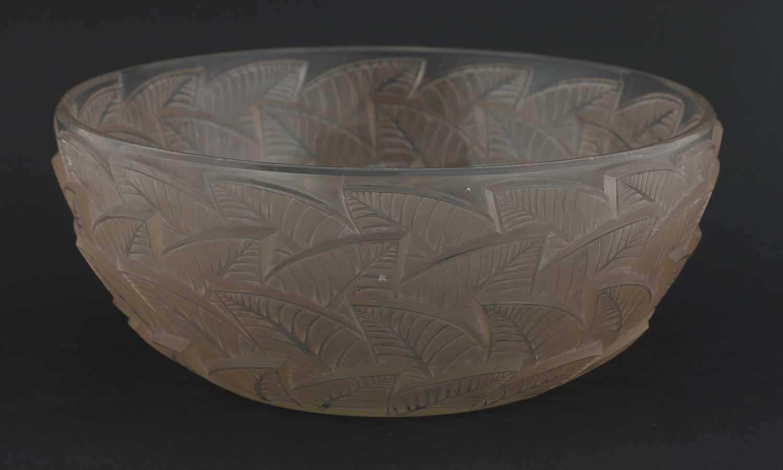 A Lalique 'Ormeaux' glass bowl,