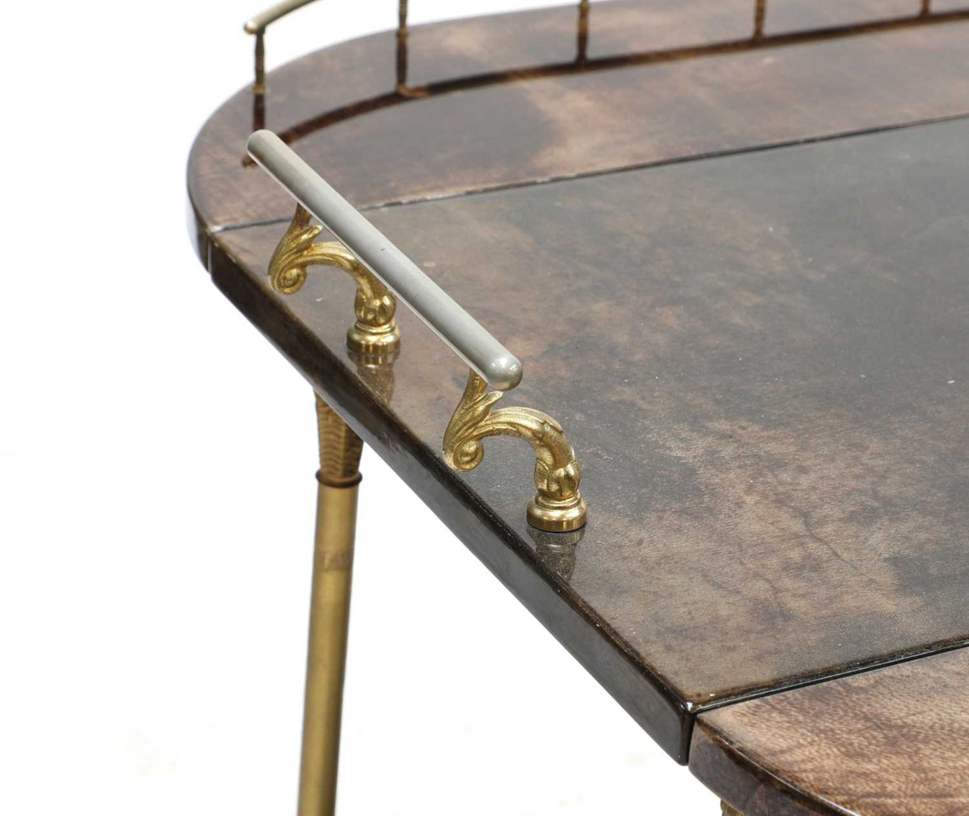 An Aldo Tura two-tier vellum drinks trolley, - Image 3 of 4