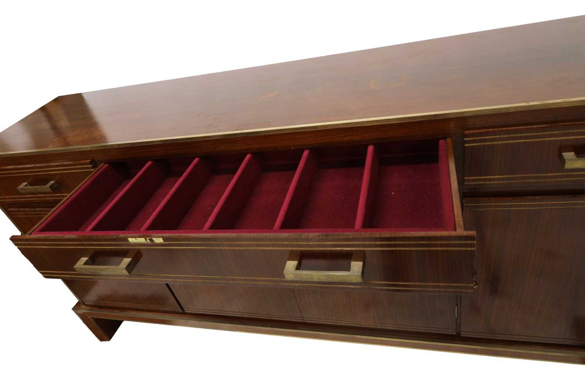 An Indian rosewood dining suite, - Image 6 of 10