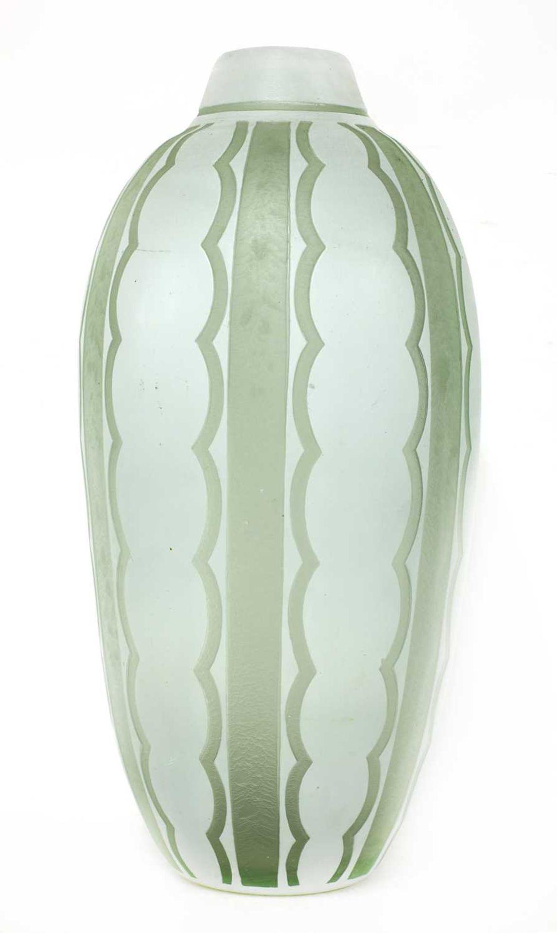 A Daum cased glass vase,