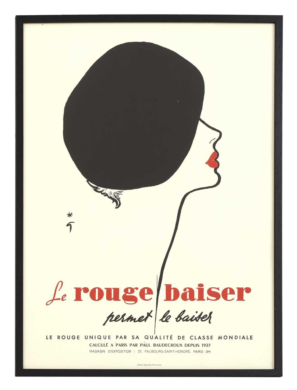 'Le Rouge Baiser' poster,