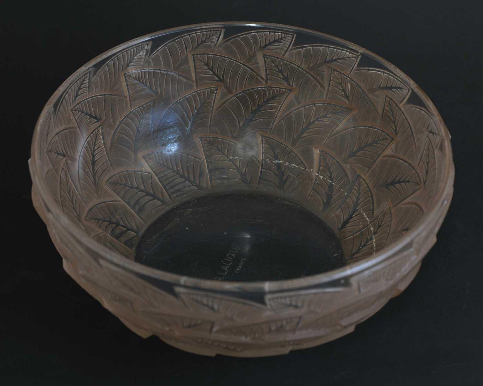 A Lalique 'Ormeaux' glass bowl, - Image 3 of 3