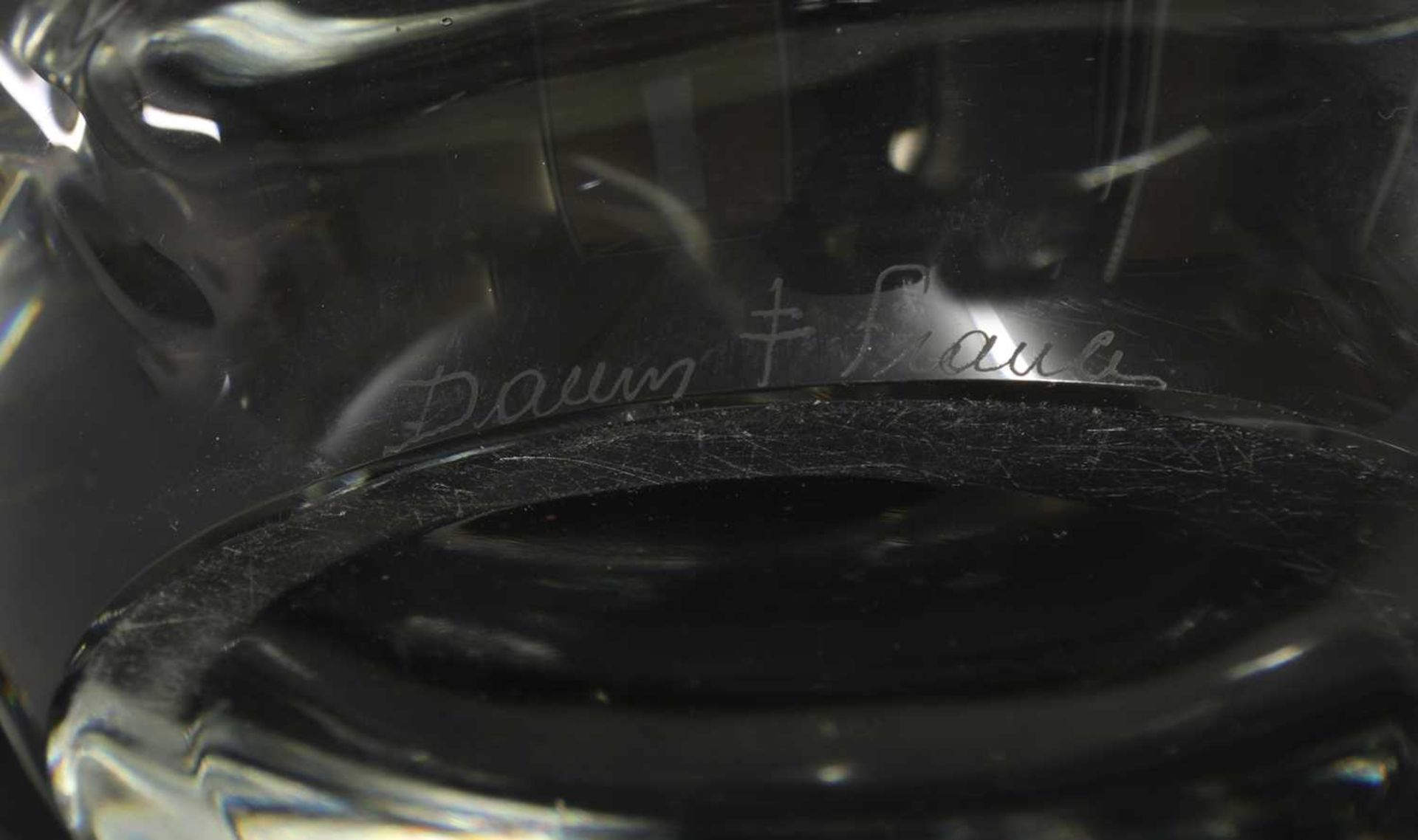 A Daum clear glass bowl, - Image 2 of 4