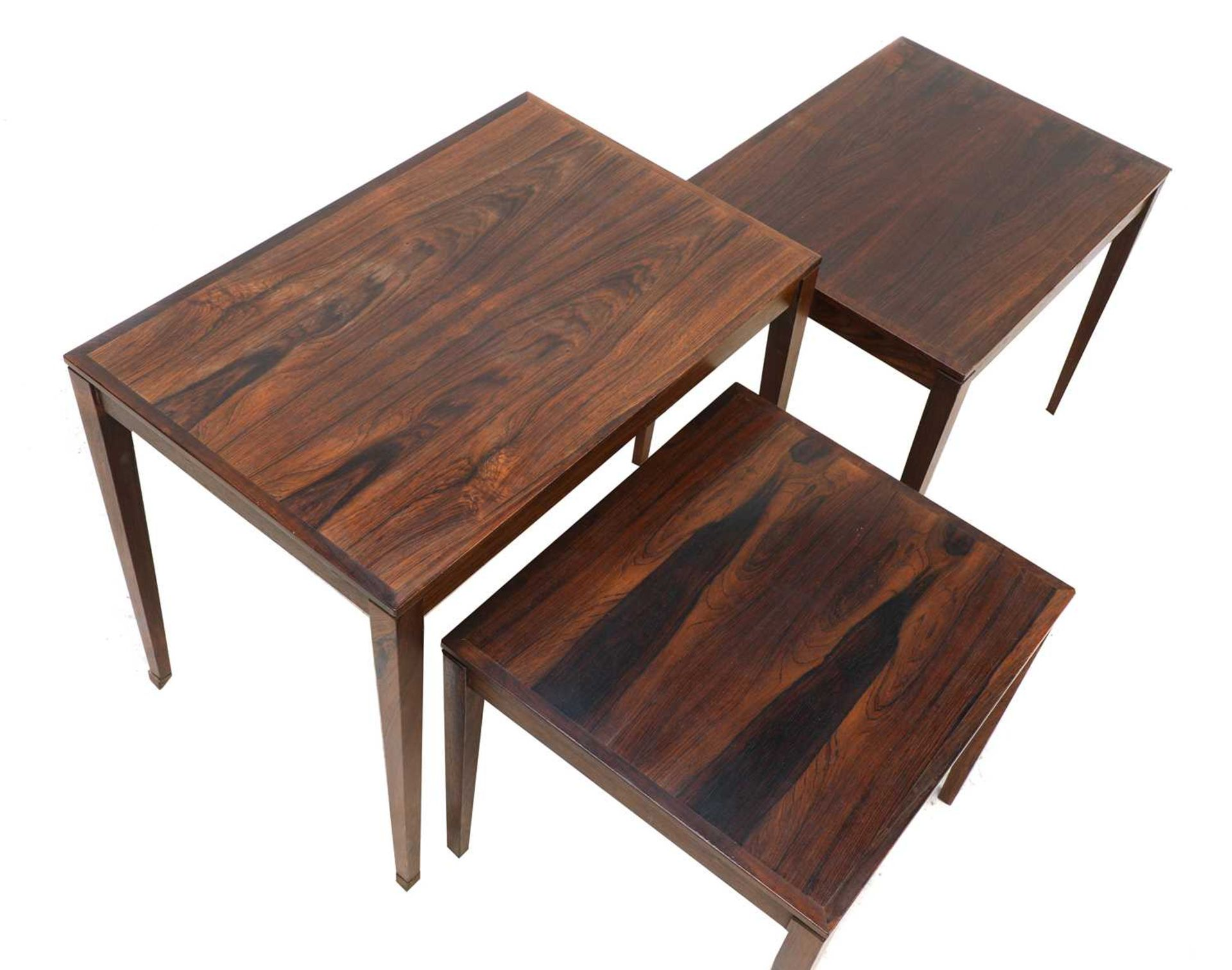 A Danish rosewood nest of three tables, § - Image 2 of 2
