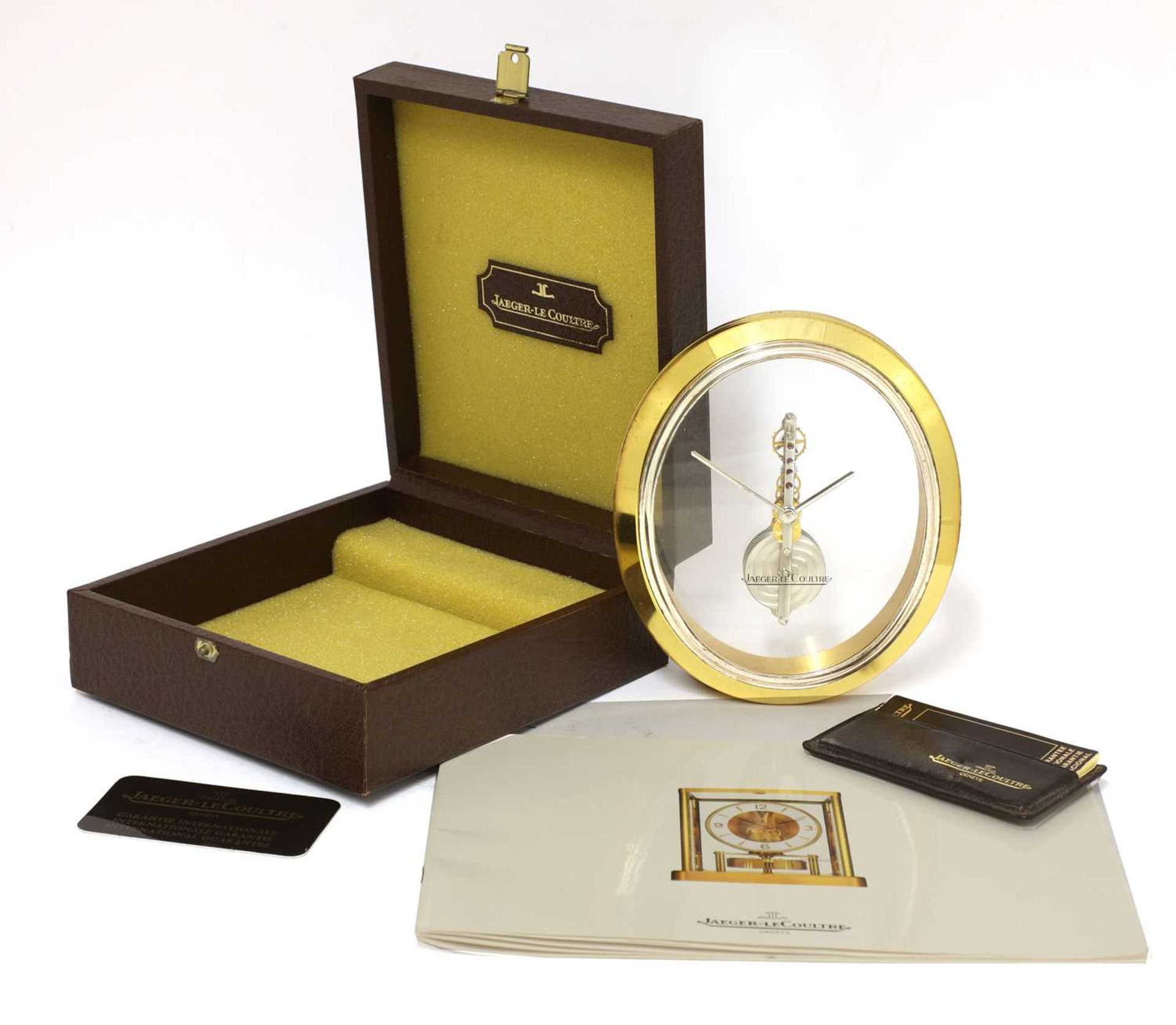 A Jaeger-LeCoultre 'Ovale' desk clock, - Image 4 of 4