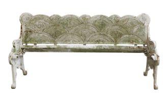 A cast iron bench,