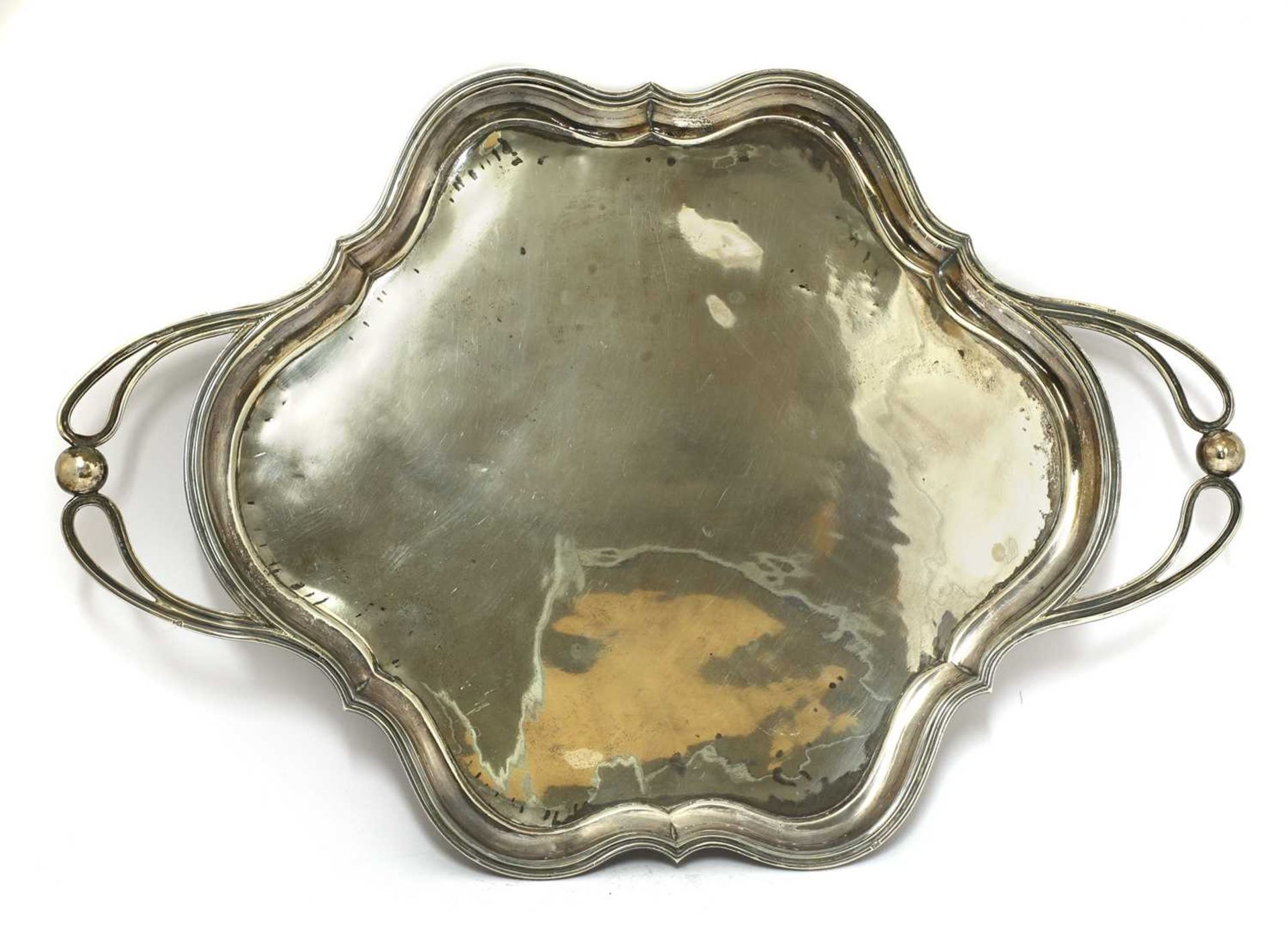 A Russian 84 standard silver twin-handled salver, - Image 3 of 3