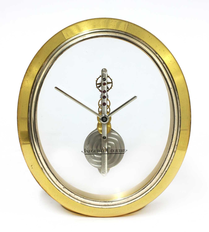 A Jaeger-LeCoultre 'Ovale' desk clock,