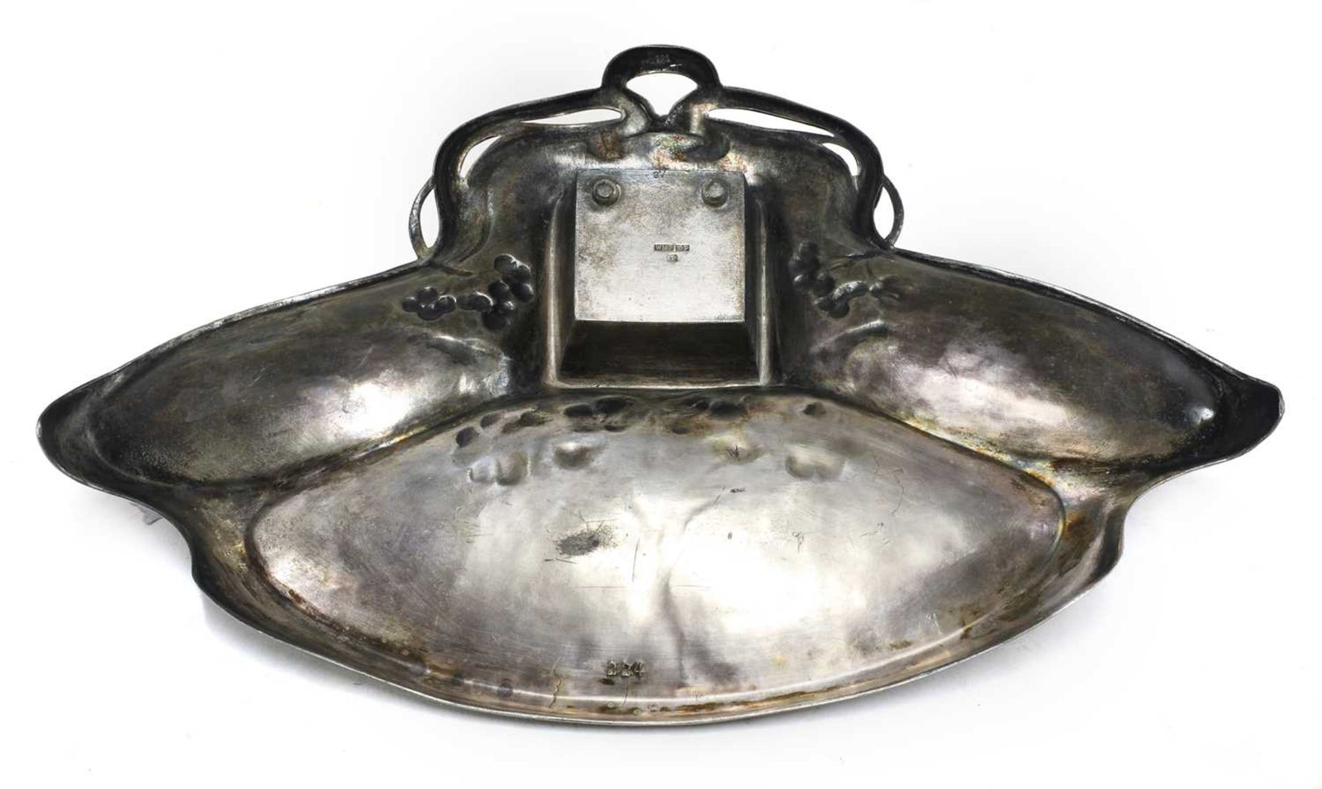 Three Art Nouveau metalware items, - Image 3 of 4