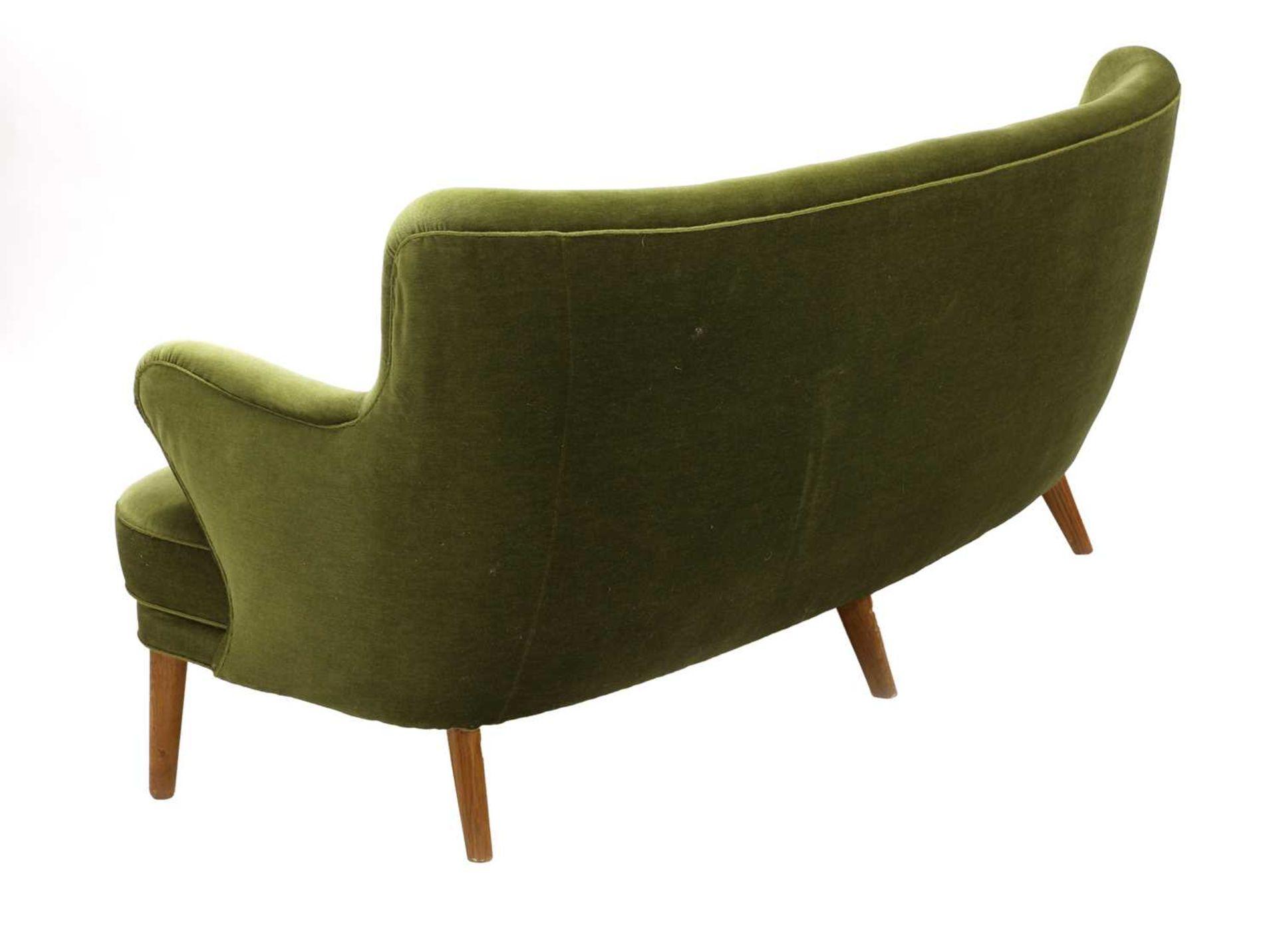A Danish 'banana' settee, - Image 3 of 4