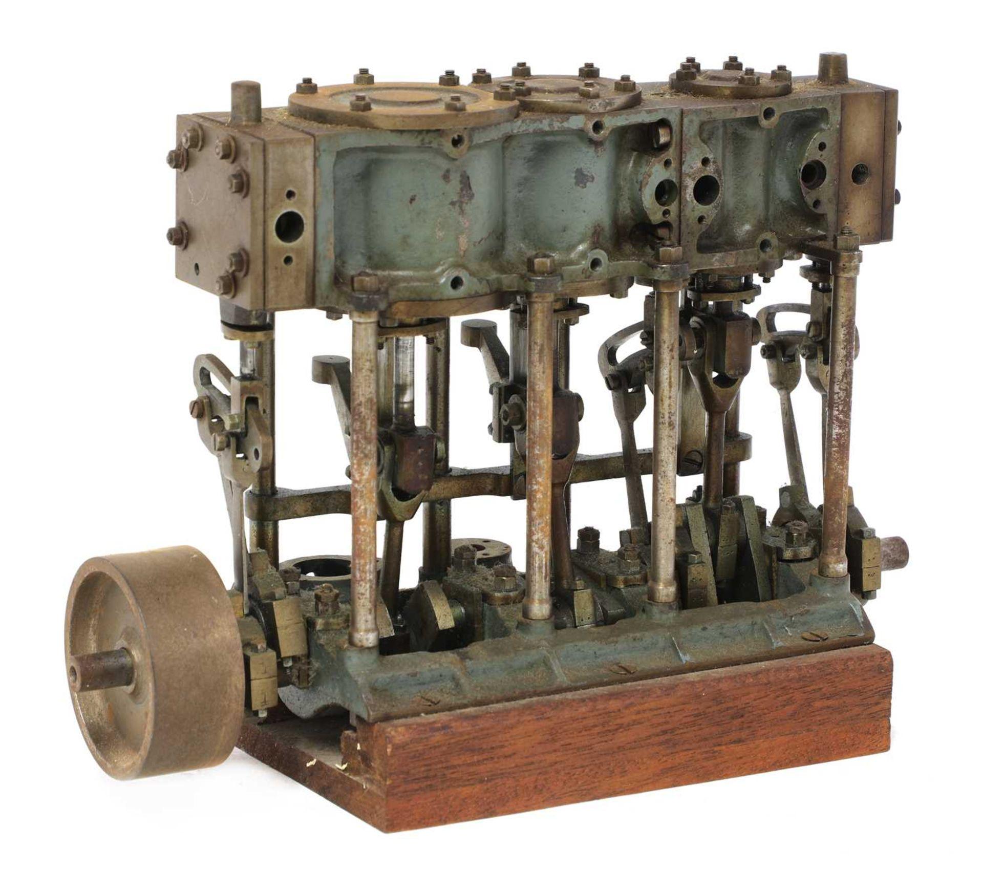 A model of a Stuart Turner triple expansion engine,