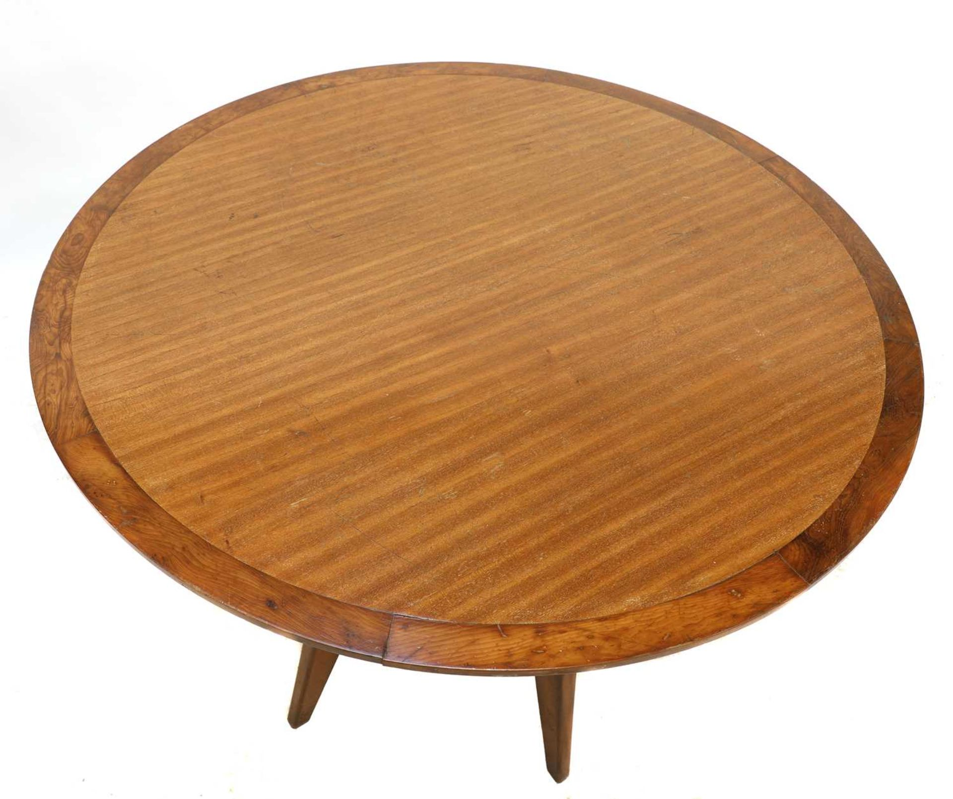A teak and yew wood centre table, - Image 2 of 2