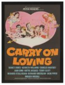 A film poster for 'Carry on Loving'