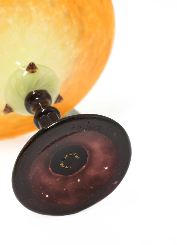A Schneider glass tazza, - Image 3 of 3