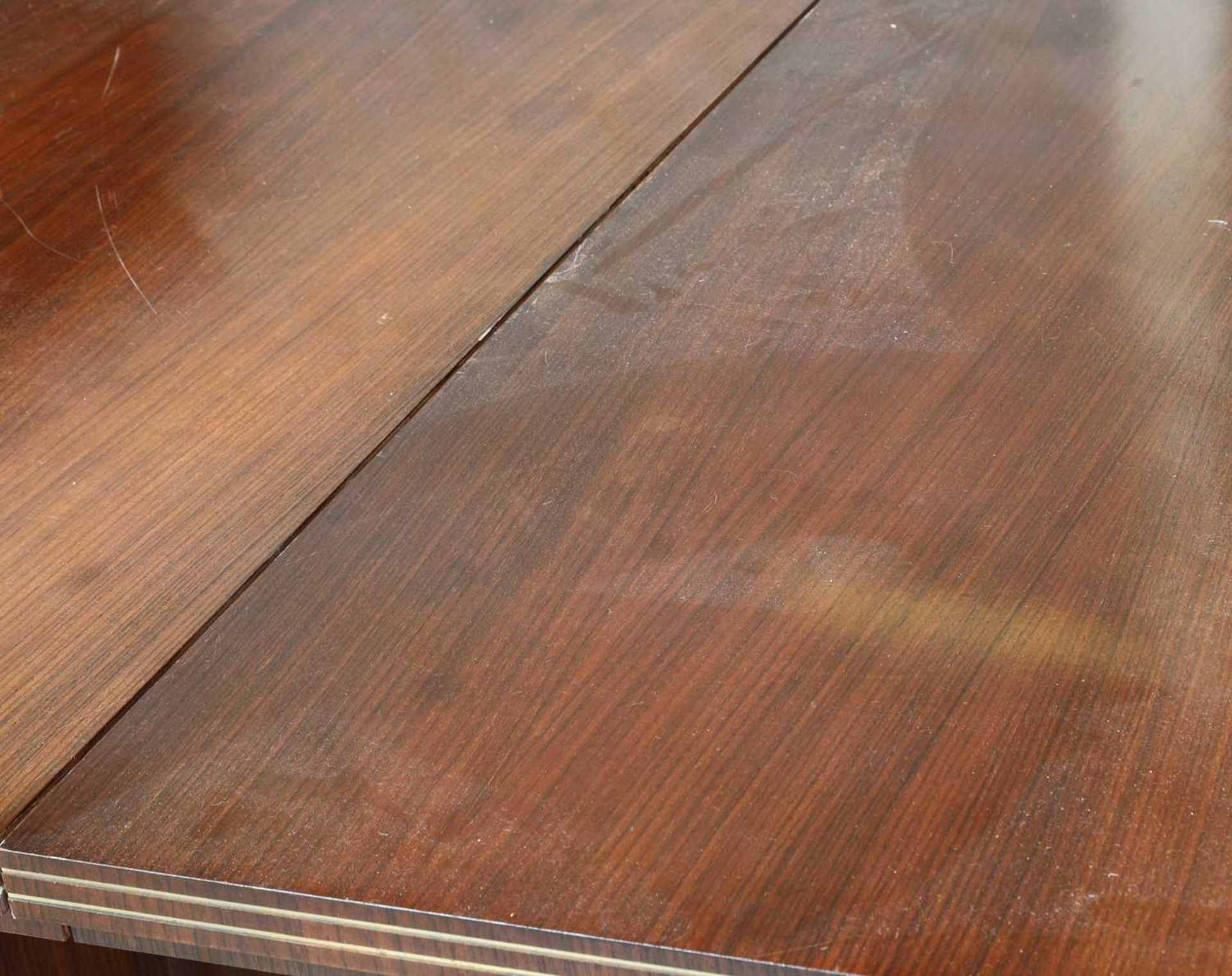 An Indian rosewood dining suite, - Image 8 of 10