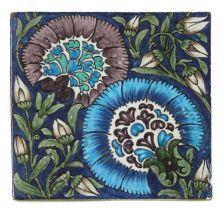 A William De Morgan 'Chicago' pattern tile,
