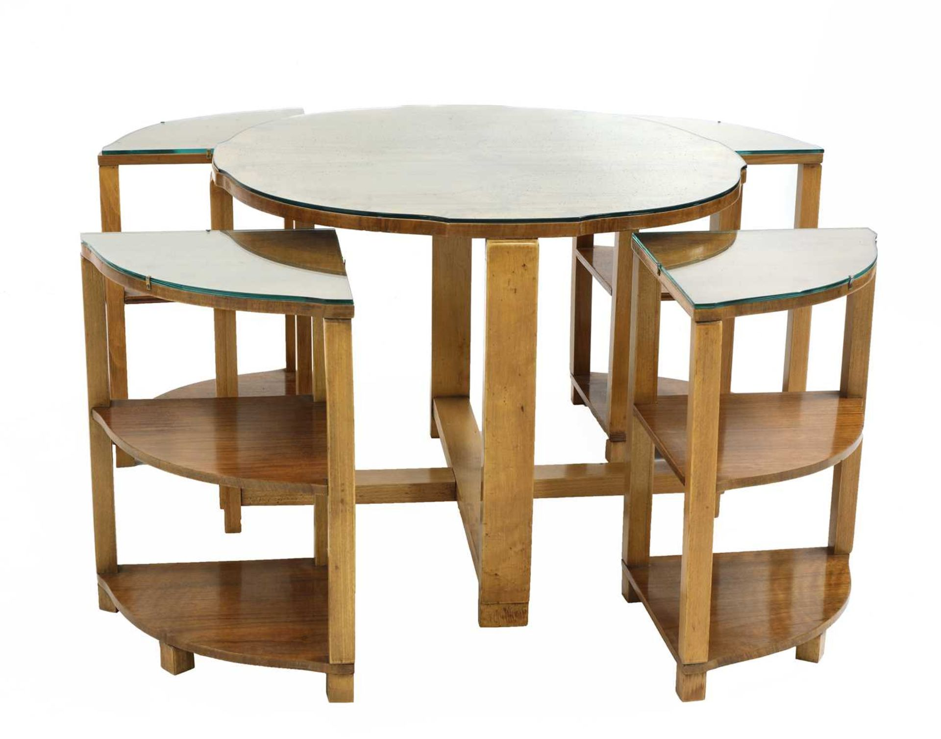An Art Deco walnut nest of tables, - Image 2 of 6