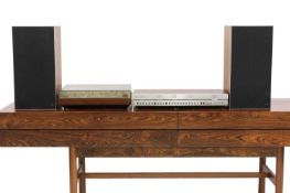 A Bang & Olufsen rosewood mounted music system, §