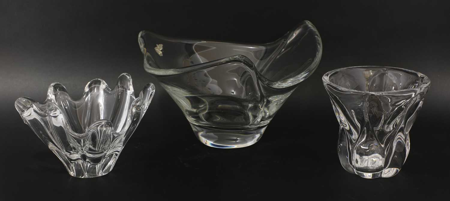 A Daum clear glass bowl, - Image 3 of 4