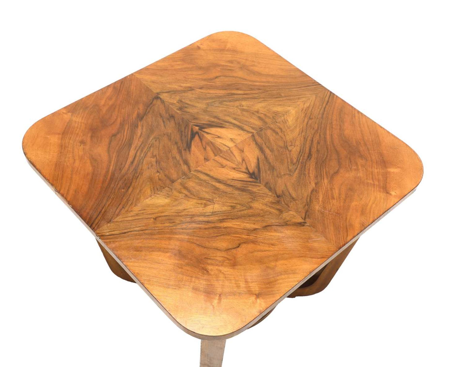 An Art Deco walnut table, - Image 3 of 3
