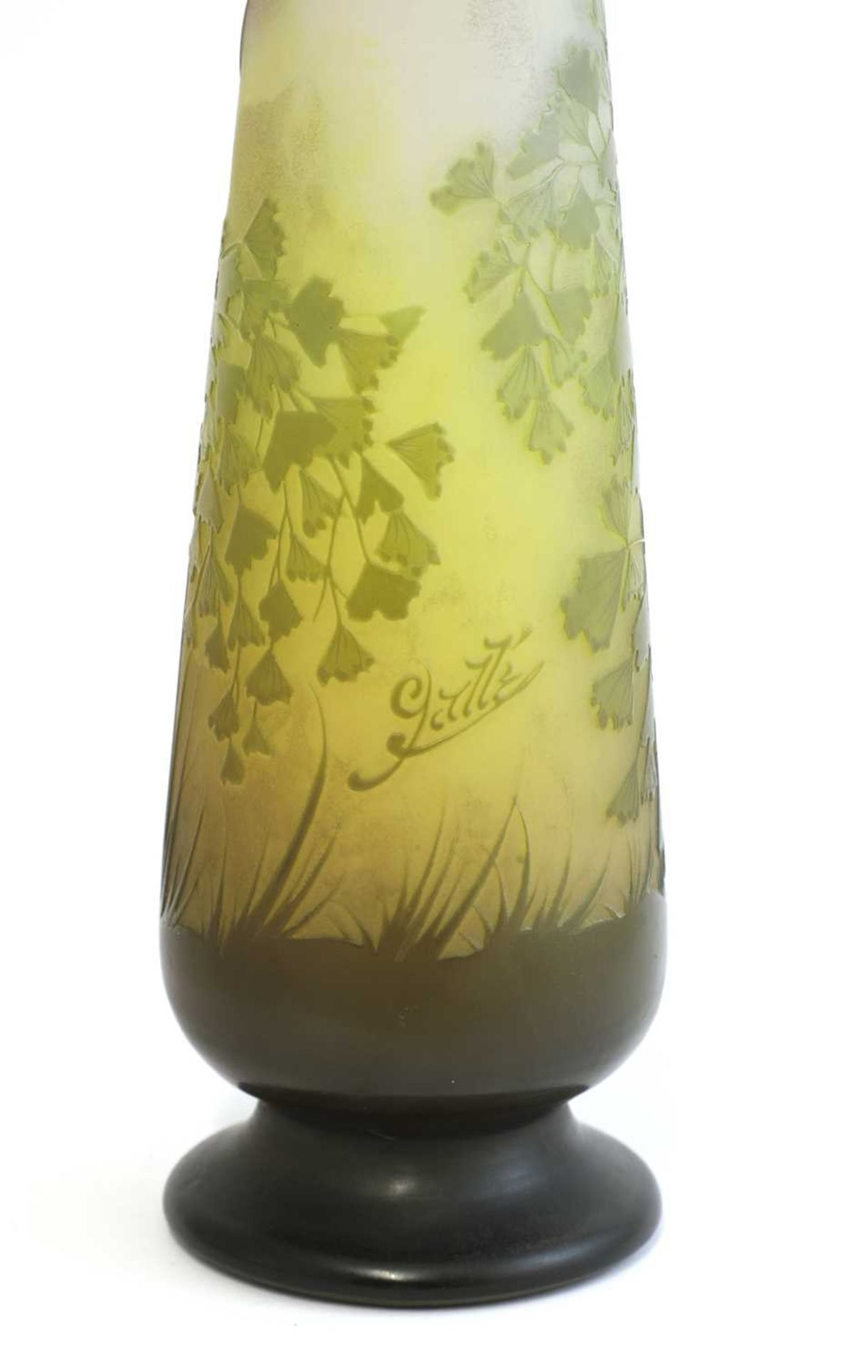 A Gallé floral cameo glass vase, - Image 5 of 6