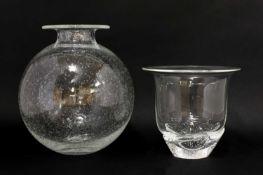 A Steuben clear glass vase,