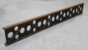 An architectural steel 'I' beam,