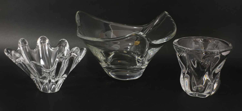 A Daum clear glass bowl,