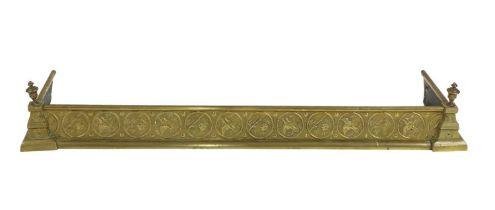 An Aesthetic brass fire kerb,