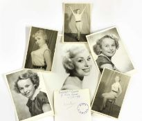 A collection of photographs of young starlets from the Aida Foster Theatre School,