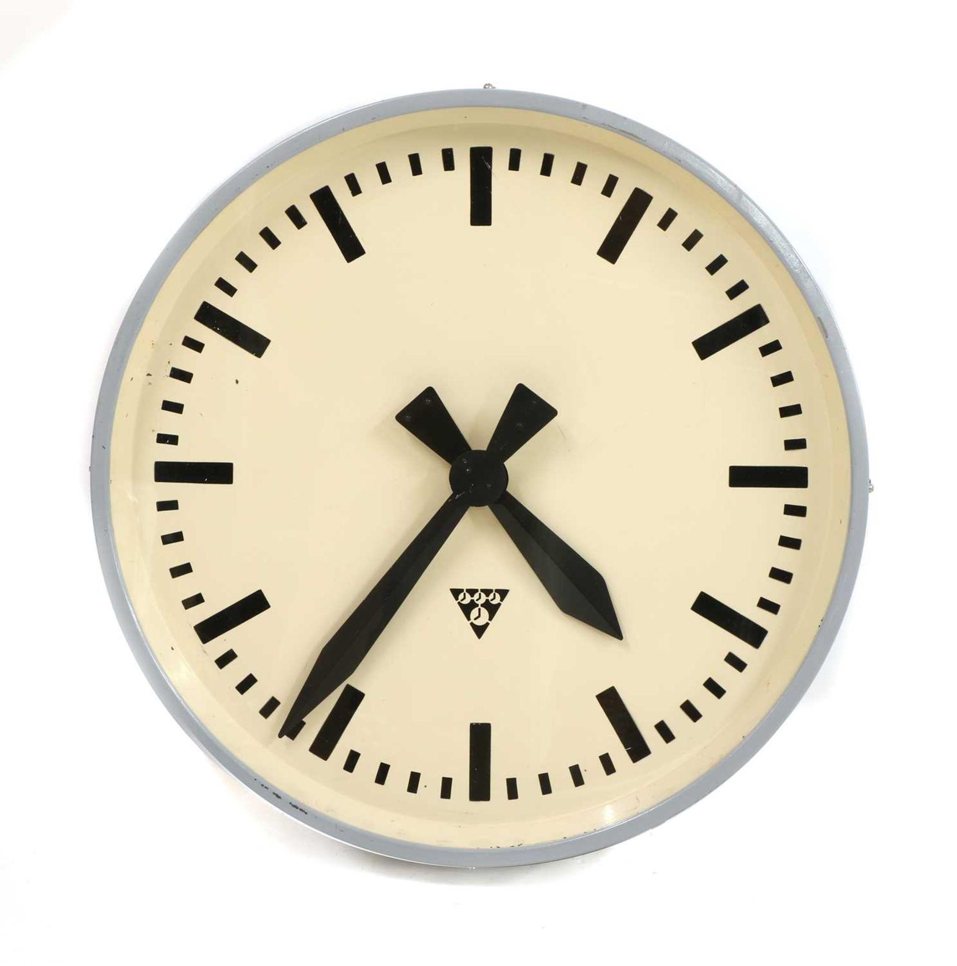 A Pragotron wall clock,
