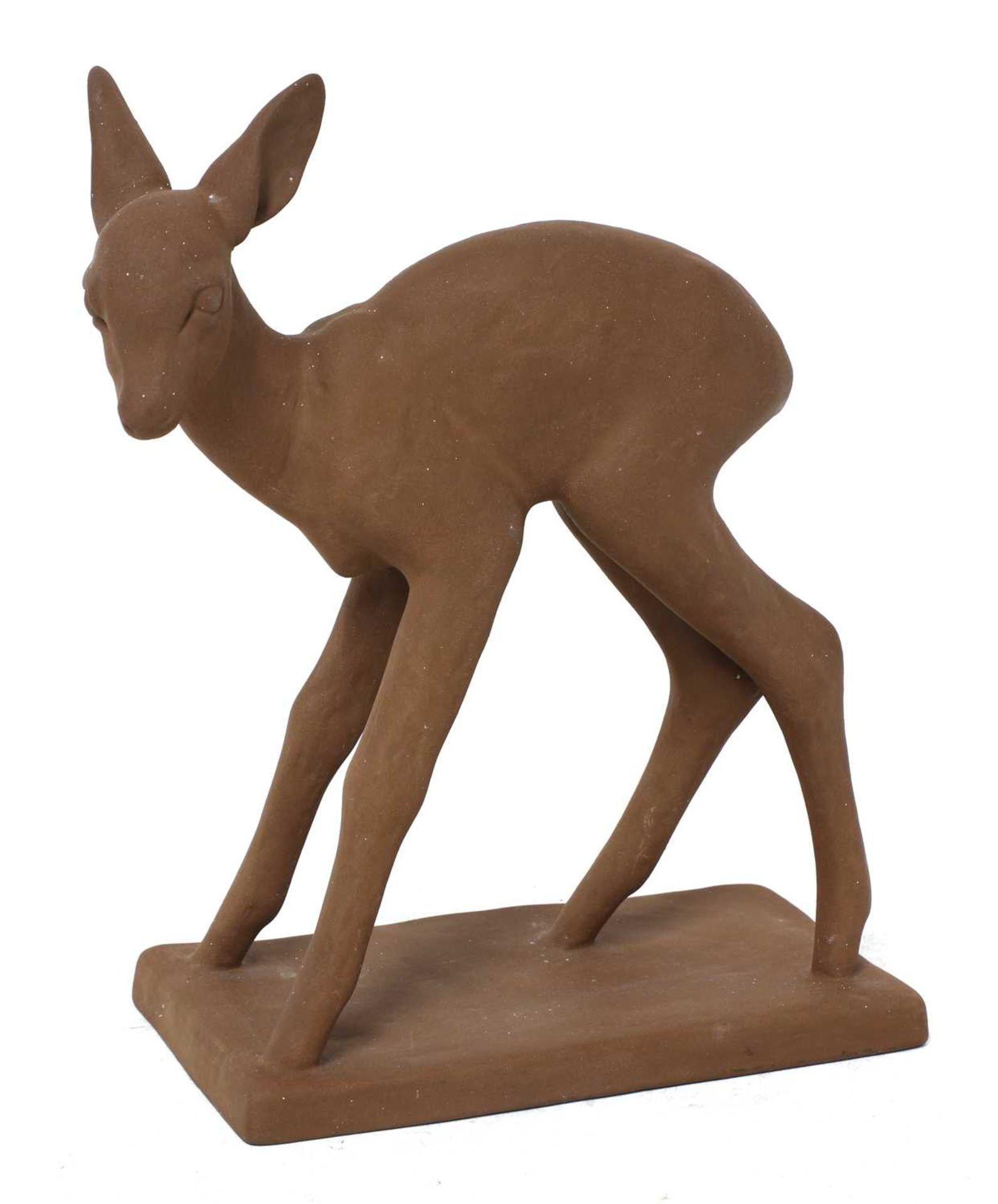 A Karlsruher terracotta fawn,