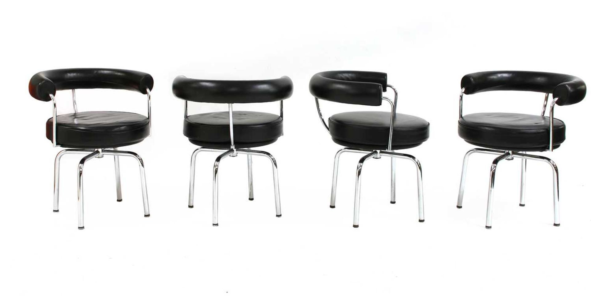 Four contemporary revolving chairs, - Image 3 of 4