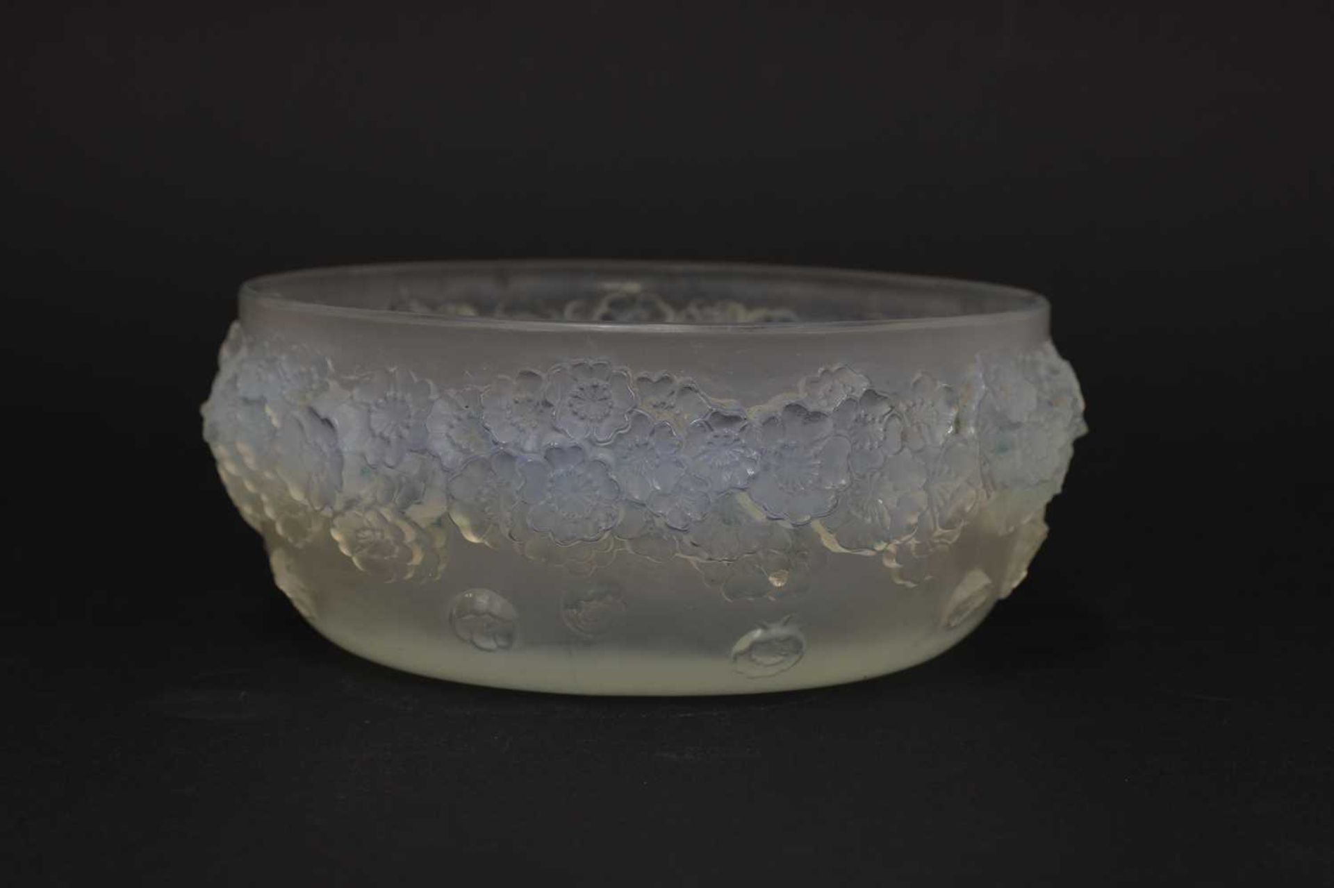 A Lalique 'Primeveres' opalescent glass bowl, - Image 2 of 3