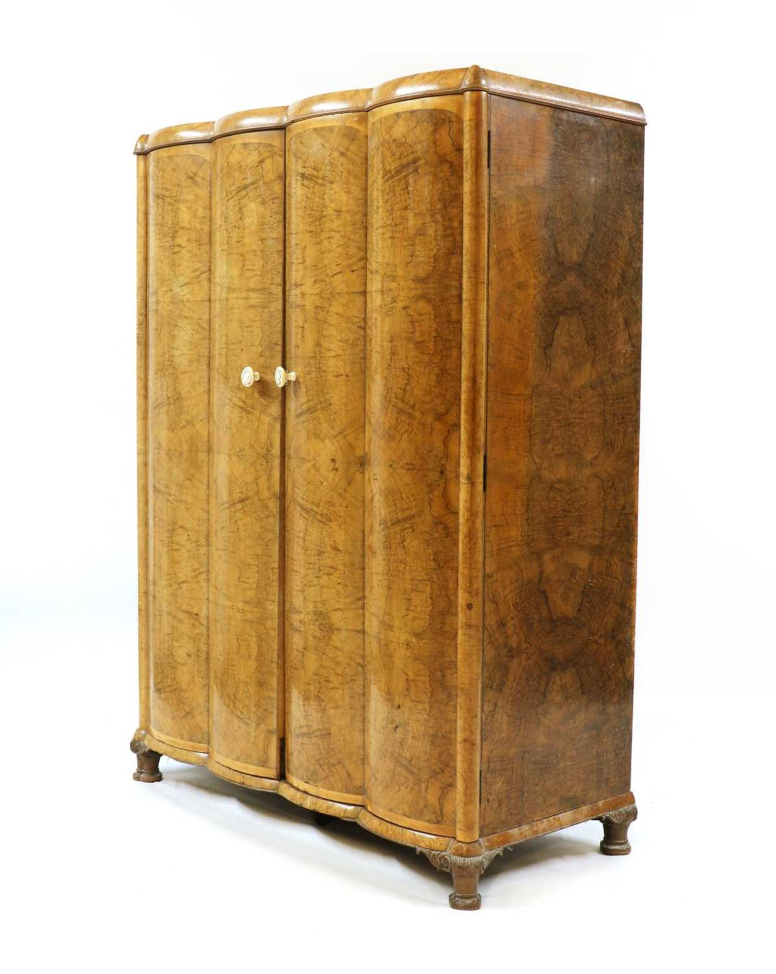 An Art Deco burr walnut and maple bedroom suite, - Image 15 of 45