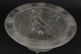 An Art Deco-style pressed glass bowl,