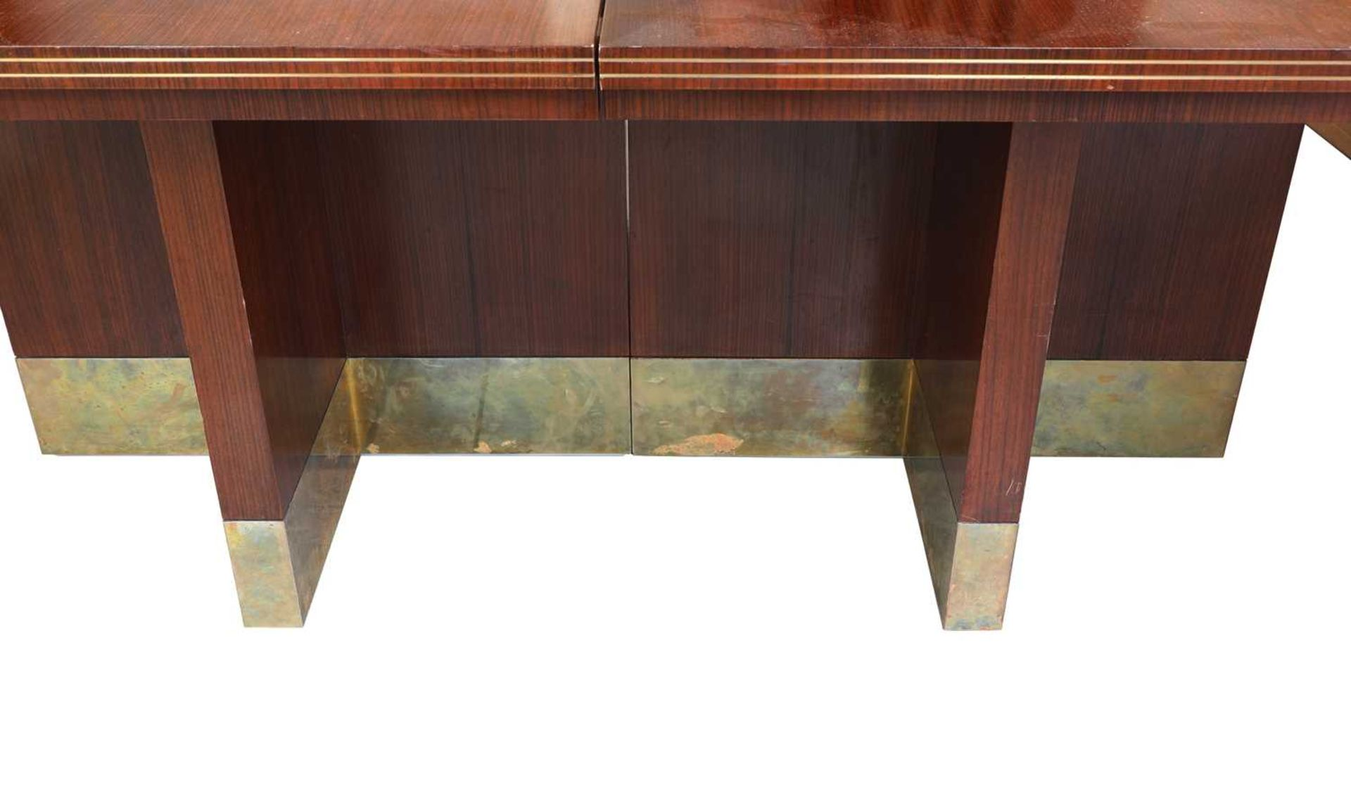 An Indian rosewood dining suite, - Image 10 of 10