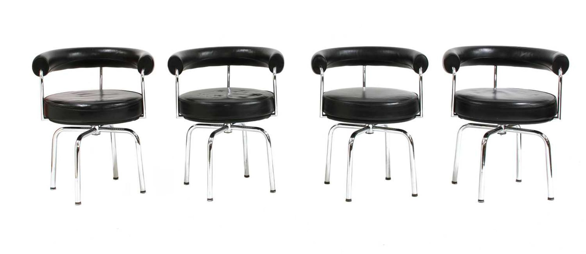 Four contemporary revolving chairs,