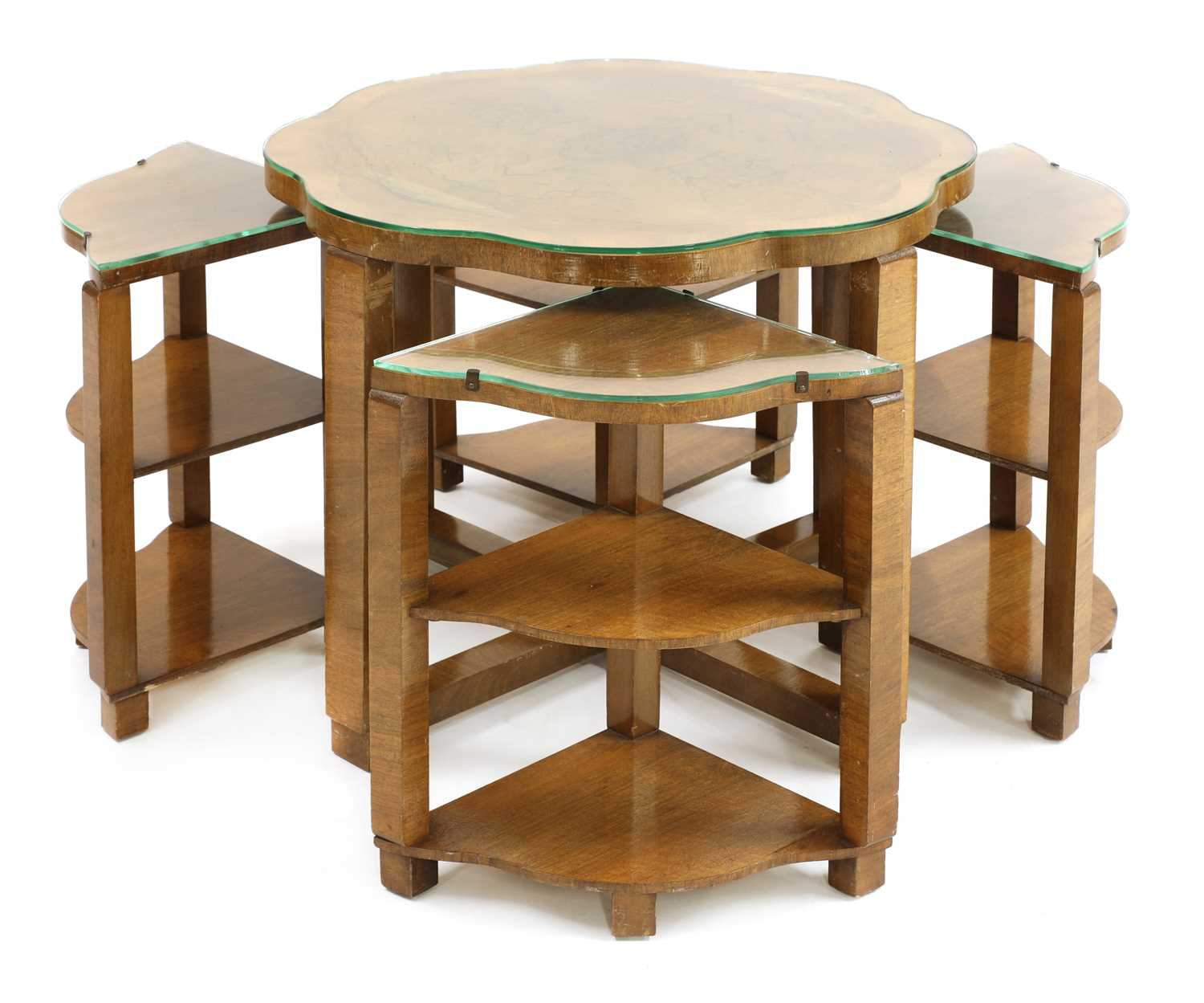 An Art Deco walnut nest of tables, - Image 2 of 3