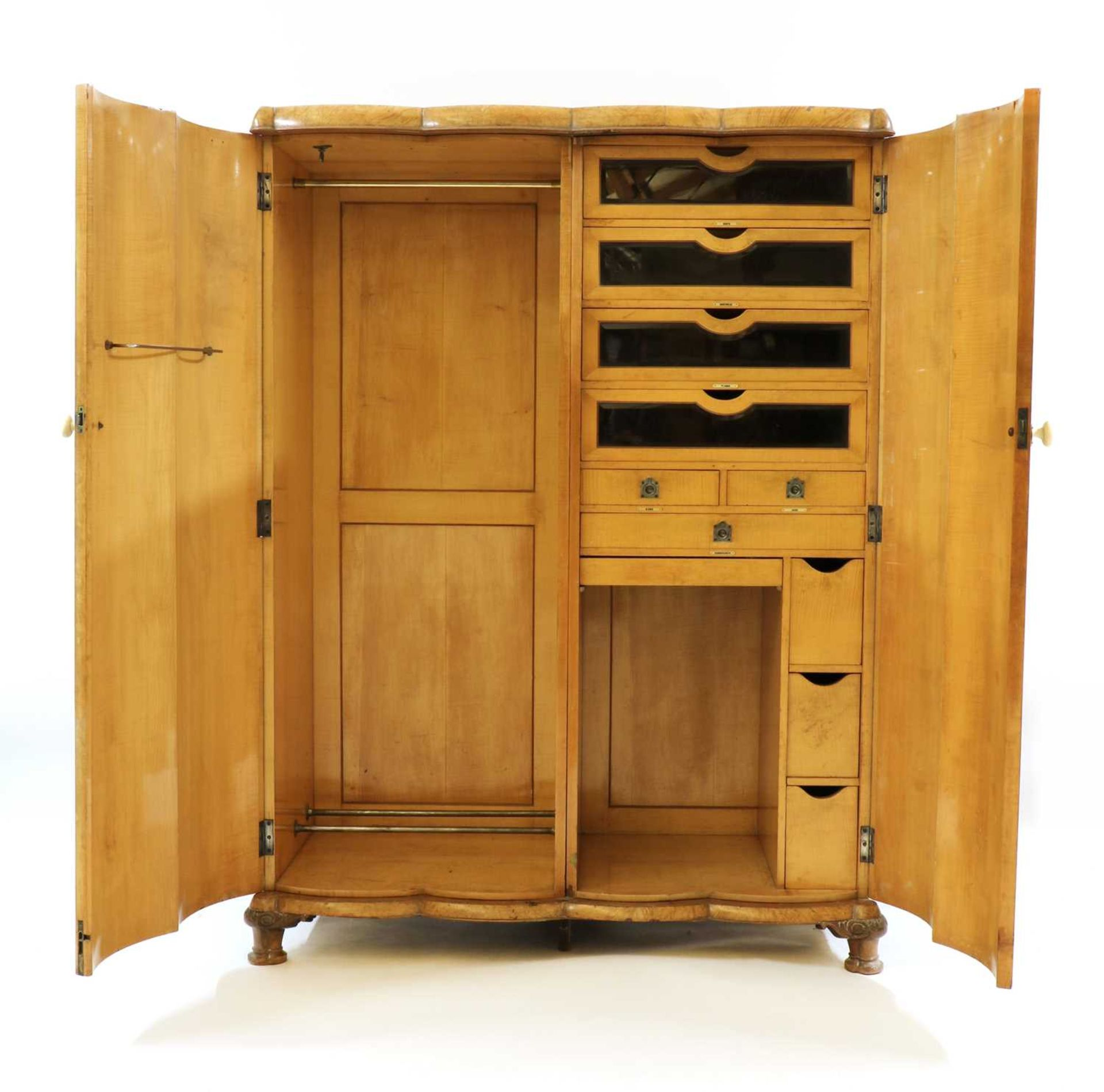 An Art Deco burr walnut and maple bedroom suite, - Image 5 of 45