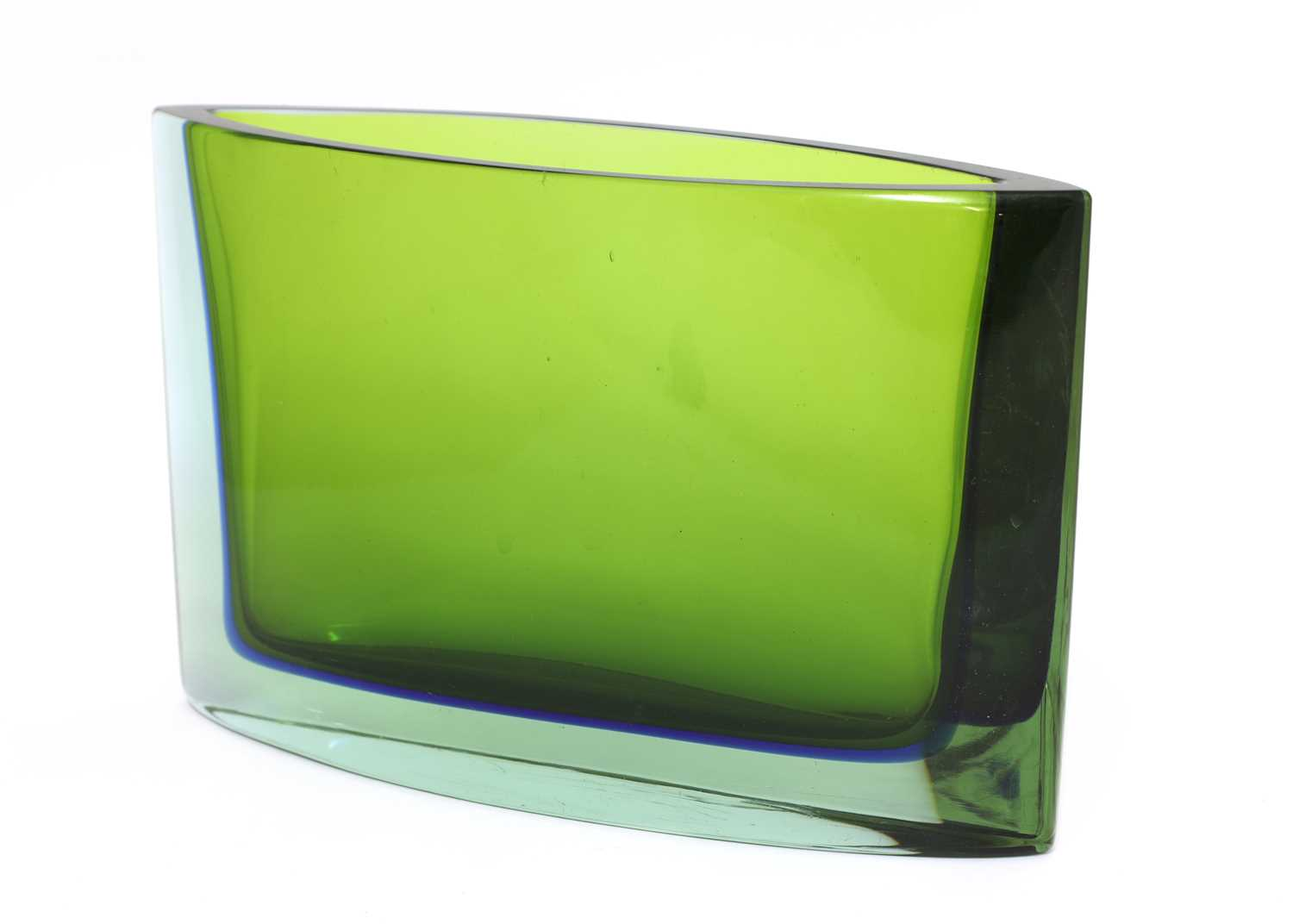 A Seguso Sommerso green and blue glass vase, - Image 2 of 3