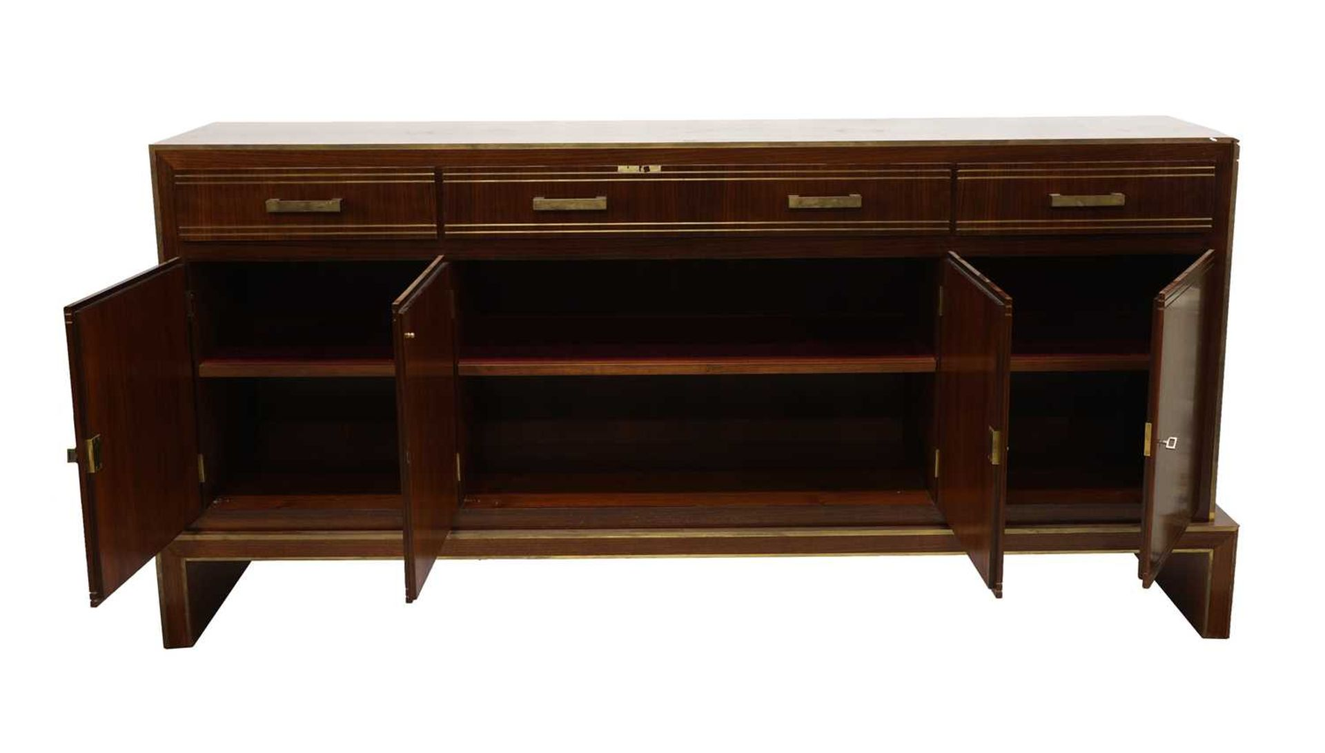 An Indian rosewood dining suite, - Image 5 of 10